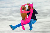 Figure Skating. Pairs Short Program — Stock Photo