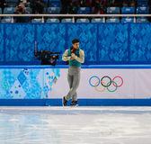 フィギュア スケート。男子ショート プログラム — ストック写真