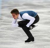 Figure skating. Men Free Skating — Stock Photo
