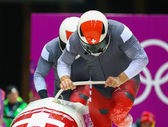 Two-man bobsleigh heat — Stock Photo