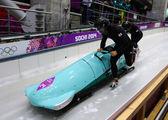Two-man bobsleigh heat — Foto Stock