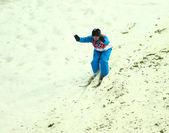 Freestyle Skiing. Men's Aerials Qualification — Stock Photo