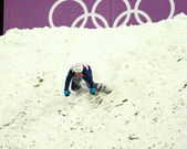 Freestyle Skiing. Men's Aerials Qualification — Zdjęcie stockowe