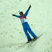 Freestyle Skiing. Men's Aerials Final — Stock Photo