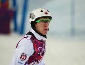 Freestyle Skiing. Men's Aerials Final — Stock Photo