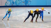 Ladies' 1000 m Heats Short Track Heats — ストック写真