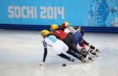 Ladies' 1000 m Heats Short Track Heats — Stok fotoğraf