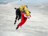 Ladies' 1000 m Heats Short Track Heats — Стоковое фото