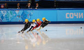 Ladies' 1000 m series shorttrack reeksen — Stockfoto