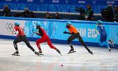 Men's 500 m Short Track Heats — Stockfoto
