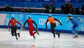 男子 500 m ショート トラック加熱 — ストック写真