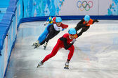 Men's 500 m Short Track Heats — Стоковое фото