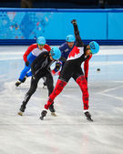 Men's 500 m Short Track Heats — Stok fotoğraf