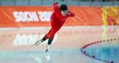 Eisschnelllauf. Girlie 5000 m — Stockfoto