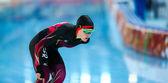 конькобежный спорт. дамы 5000 m — Стоковое фото