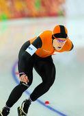 Speed Skating. Ladies' 5000 m — Stock Photo
