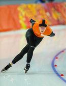 Schaatsen. Ladies' 5000 m — Stockfoto