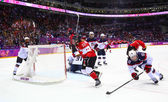 Ice hockey. Women's Gold Medal Game — Stok fotoğraf