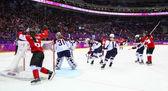 Ijshockey. Women's gouden medaille spel — Stockfoto
