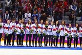 Ishockey. kvinnors guld spel — Stockfoto