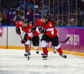 Ice hockey. Women's Gold Medal Game — 图库照片
