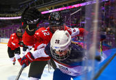 Ice hockey. Women's Gold Medal Game — Stock Photo