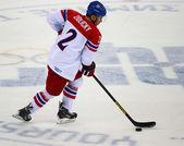 Хоккей на льду. раунд плей-офф квалификации мужчин — Стоковое фото