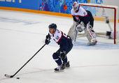 Ijshockey. mannen play-offs kwalificaties — Stockfoto