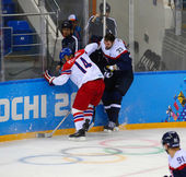 Ice hockey. Men's Play-offs Qualifications — Stock Photo