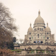 Sacre Coeur Cathedral in autumn day — Stock Photo