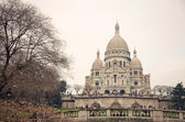 Sacre Coeur Cathedral in autumn day — Zdjęcie stockowe