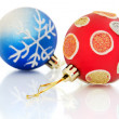 Stock Photo: Christmas balls on white background