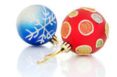 Christmas balls on white background — Stockfoto