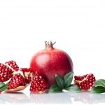 Pomegranate isolated on the white background — Stock Photo #15835489