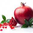 Stock Photo: Pomegranate isolated on white background