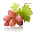 Grape cluster with leaves isolated on a white background — Stock Photo #43351073