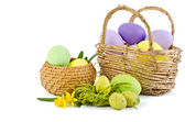 Easter decoration with eggs — Stock Photo