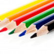 Beautiful multi-colored pencils isolated on white background — Stock Photo #47457745