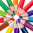 Beautiful multi-colored pencils isolated on white background — Stock Photo #47875913