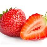 Red sweet strawberrys isolated on white background — Stockfoto