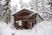 Winter's hut — Stockfoto