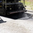 Raking hot asphalt — Stock Video #12882272