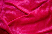 Pleated red cloth — Stock Photo