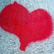 Painted red heart — Stock Photo