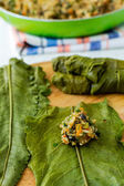 Stuffed dock leaves — Stock Photo