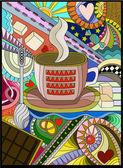 Evening Tea — Stock Vector