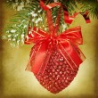 Christmas heart - Stock Photo