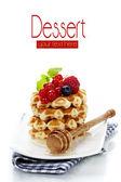 Belgian waffles — Стоковое фото