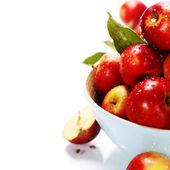 Apples in a bowl — Stock Photo