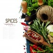 Spices on a wooden board - Foto de Stock